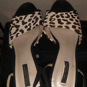 Zara Print Heels